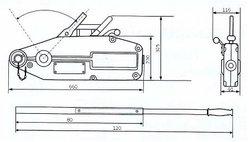 Монтажно-тяговый тросовый механизм GART Lifting 3.2Т + трос 20 м