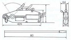 Монтажно-тяговый тросовый механизм GART Lifting 0.8Т + трос 20 м
